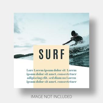 Modello di surf moderno instagram