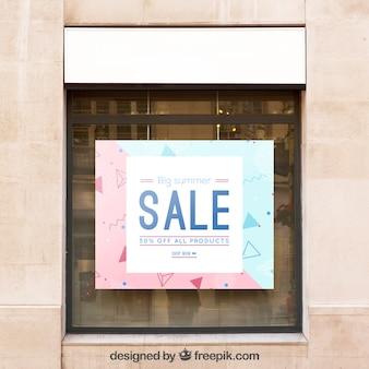 Modello di tabellone per le affissioni con il concetto di vendita