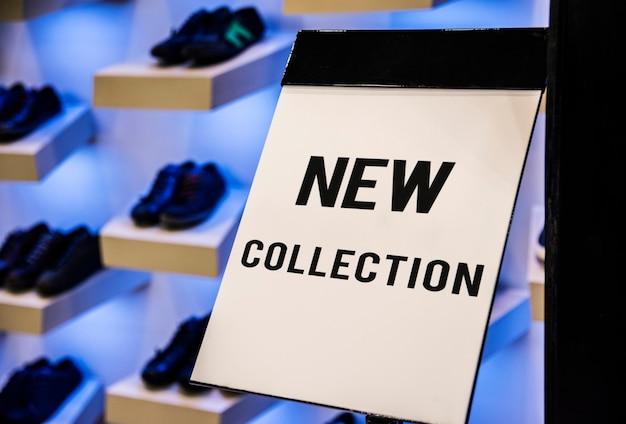 Modello di tabellone per le affissioni nel negozio di scarpe