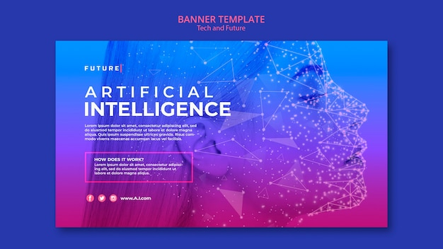 Modello di tecnologia e futuro concetto banner con foto