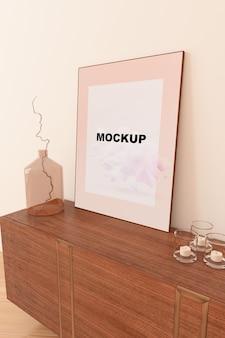 Modello di telaio sopra l'armadio