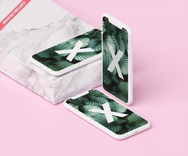 Modello di telefono con marmo