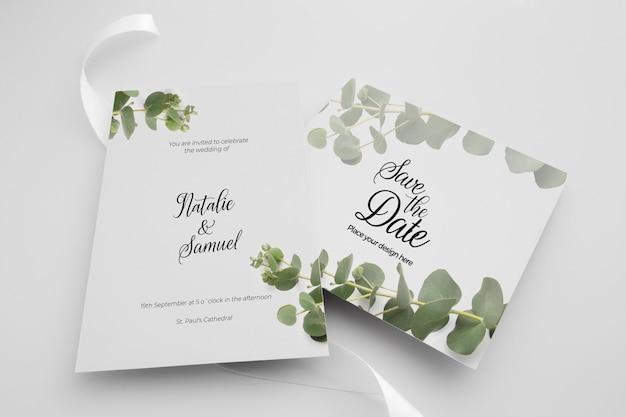 Modello di tema elegante invito a nozze