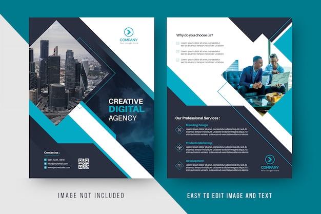 Modello di volantino aziendale agenzia digitale