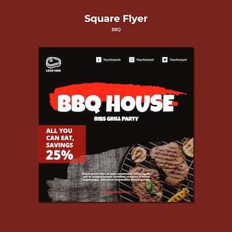 Modello di volantino con design barbecue