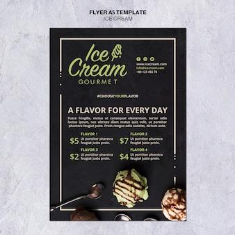 Modello di volantino concetto di gelato