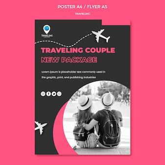 Modello di volantino concetto di viaggio