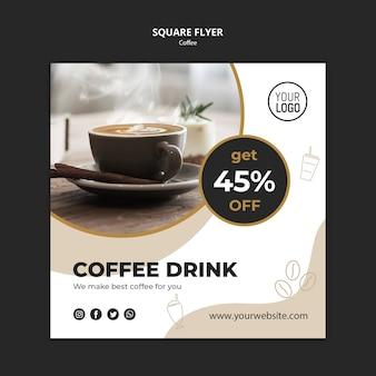 Modello di volantino del caffè