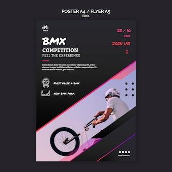 Modello di volantino del concorso bmx