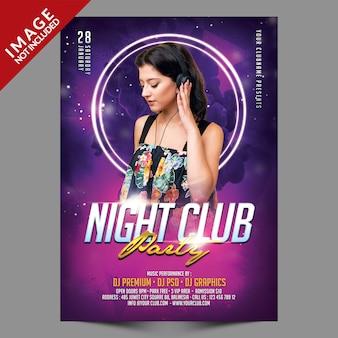 Modello di volantino del partito di night club