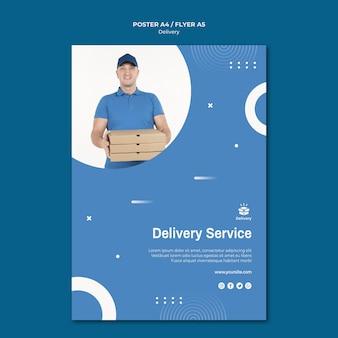 Modello di volantino del servizio di consegna