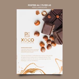 Modello di volantino delizioso cioccolato