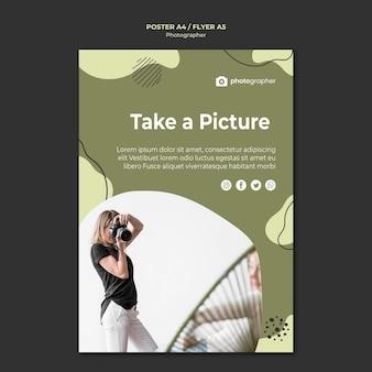 Modello di volantino dello studio del fotografo