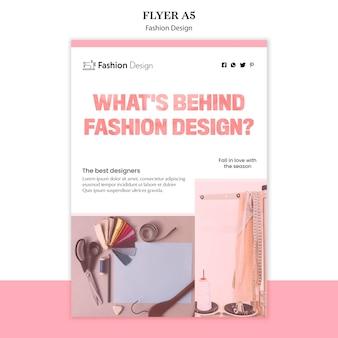 Modello di volantino design della moda