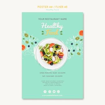 Modello di volantino di cibo sano