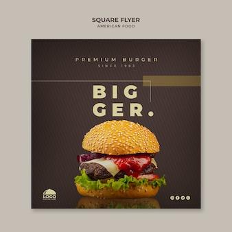 Modello di volantino di hamburger