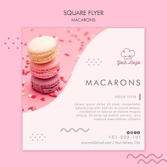 Modello di volantino di macarons