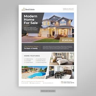 Modello di volantino di marketing immobiliare