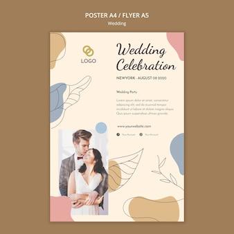Modello di volantino di nozze
