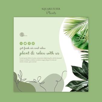 Modello di volantino di piante