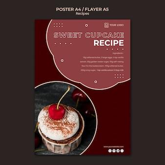 Modello di volantino di ricette di dessert