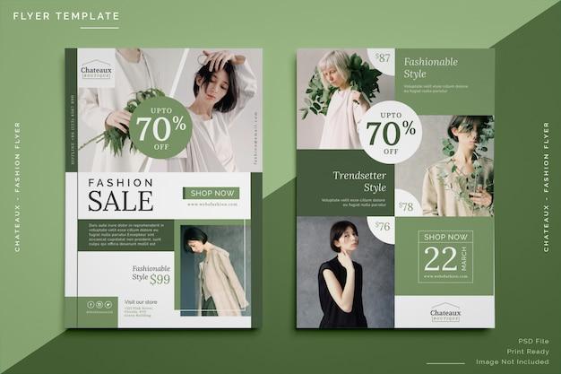 Modello di volantino di vendita di moda