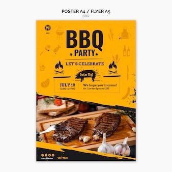Modello di volantino festa barbecue