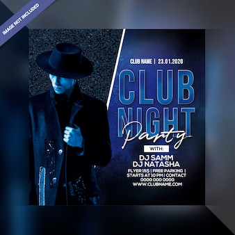 Modello di volantino festa notte club