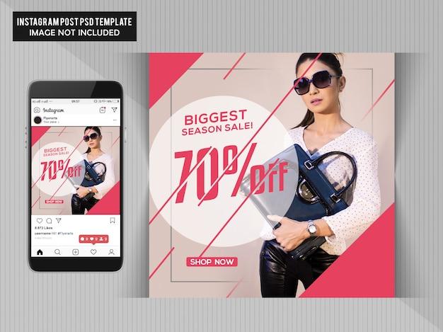 Modello di volantino grande vendita di moda