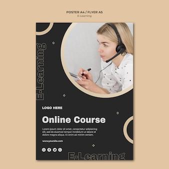 Modello di volantino per l'apprendimento online
