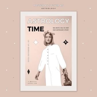 Modello di volantino per l'astrologia