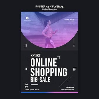 Modello di volantino per lo shopping online athleisure