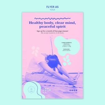 Modello di volantino pubblicitario di yoga