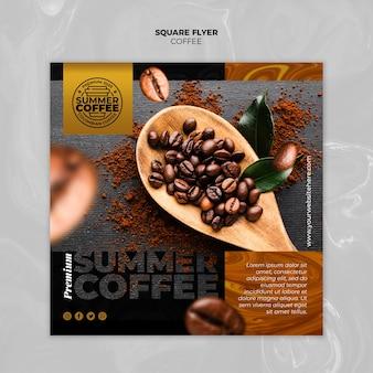 Modello di volantino quadrato caffetteria