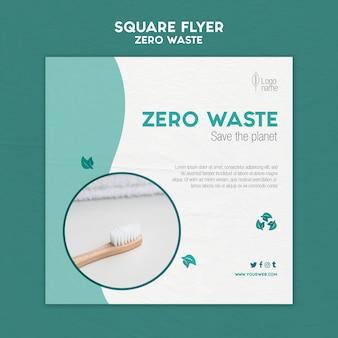 Modello di volantino quadrato zero waster
