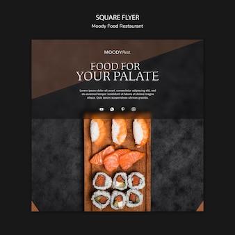 Modello di volantino ristorante cibo lunatico