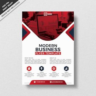 Modello di volantino rosso business design moderno di stile