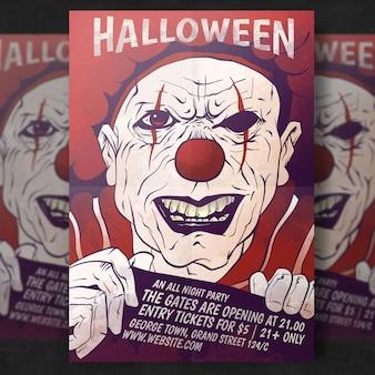 Modello di volantino spooky halloween party