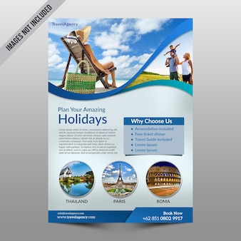 Modello di volantino vacanza