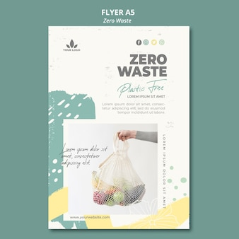 Modello di volantino zero rifiuti