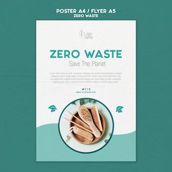 Modello di volantino zero waster