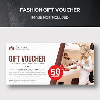 Modello di voucher regalo di moda