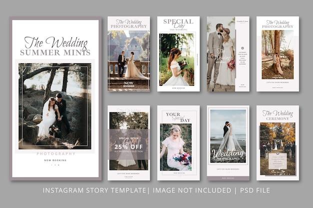 Modello grafico di storie di instagram sposate