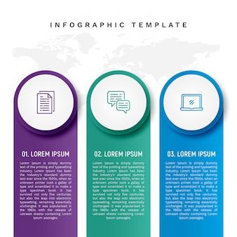 Modello infographic colorato in stile banner