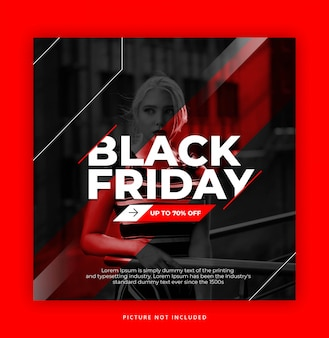 Modello instagram di black friday