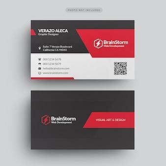 Modello moderno di biglietto da visita aziendale