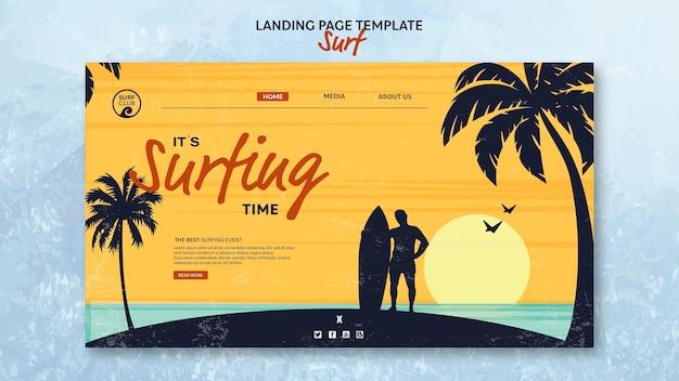 Modello per landing page con tempo di navigazione