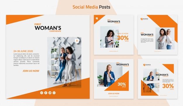 Modello per post di social media aziendali