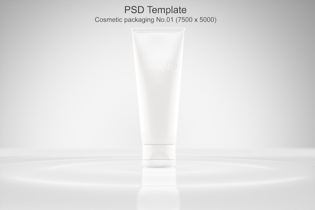 Modello psd mockup packaging cosmetico