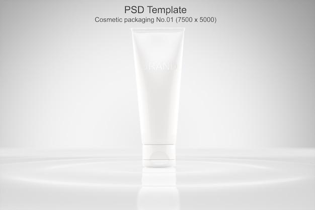 Modello psd mockup packaging cosmetico